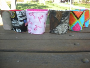 Beverage cozies contain the same insulate as an oven mitt, helping keep your cold or hot drink colder or warmer longer!